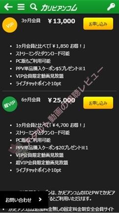 カリビアンコム入会プランの詳細表示02